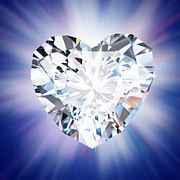 Perfection...blue, heart, diamond and sparkle.