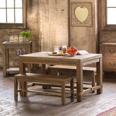 Stonemill 1400 Dining Package (Table: 1400W x 900D x 785H mm; Bench: 1120W x 350D x 450H mm) RRP $989