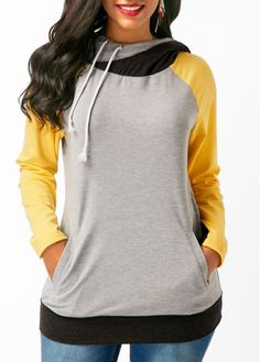 Drawstring Long Sleeve Zipper Embellished Hoodie on sale only US$31.74 now, buy cheap Drawstring Long Sleeve Zipper Embellished Hoodie at liligal.com