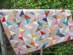 another cool half square triangle quilt