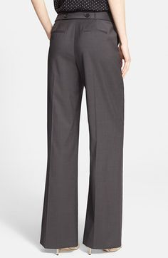 Nordstrom Signature and Caroline Issa Wide Leg Wool Suiting Trousers | Nordstrom