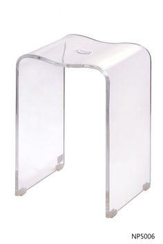 Tabouret de salle de bains transparent Ice | tabouret | Pinterest