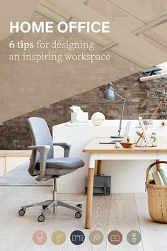 Looking for inspiration on updating your current workspace? Here are 6 quick tips for designing a home office that works and keeps you happy. Design Your Own Home, Workspace Inspiration, Workspace Design, Scandinavian Design, Office Ideas, Office Furniture, Home Office, Board, Happy
