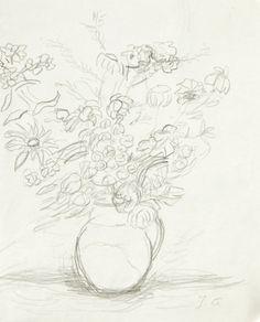 Jan Cybis - Kwiaty w wazonie