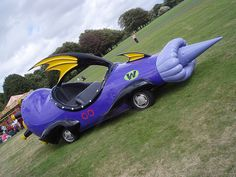 A real life Mean Machine from Wacky Races. I really wish that Dastardly and Muttley were driving this.