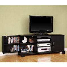 """Walker Edison Black TV Stand for TVs up to 65"""""""