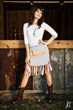 #Tennessee Volunteer Game Day Skirt  orange dresses #2dayslook #orange style #orangefashion  www.2dayslook.com