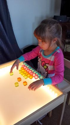 This DIY Light Table Is Such A Wonderful Idea! Just Think Of All The  Amazing Art Projects You Can Do With Something Like This, Not To Mention  The Fun Kids ...