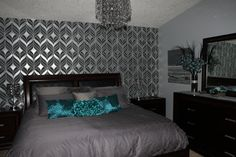 Teal and gray bedroom ideas teal and gray bedroom ideas teal bedroom and teal bedroom ideas . teal and gray bedroom ideas Teal Bedroom Walls, Brown Master Bedroom, Teal Bedroom Decor, Teal Rooms, Living Room Turquoise, Silver Bedroom, Bedroom Turquoise, Small Room Bedroom, Bedroom Ideas
