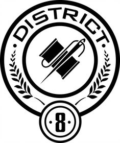 District 8 Seal by on DeviantArt Hunger Games Logo, Hunger Games Characters, Hunger Games Novel, Hunger Games Catching Fire, Tribute Von Panem Film, Hunger Games Districts, Effie Trinket, How To Make Stickers, Magic Symbols