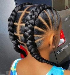 See more protective styles for natural hair braids, great updo for vacation. great for swimming too. Leave it in long term for summer or winter. You'll see… - 21 Protective Styles for Natural Hair Braids African American Girl Hairstyles, Toddler Braided Hairstyles, Black Kids Hairstyles, Natural Hairstyles For Kids, African Hairstyles For Kids, Teenage Hairstyles, Kids Cornrow Hairstyles, Hairstyles 2018, Fancy Hairstyles