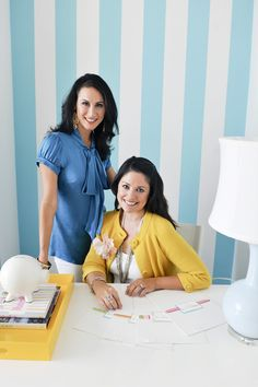 "We hope our personal, ""real mom"" approach along with our talented team of design experts will assist you in getting your first baby project underway and that you'll keep coming back for more! After all, any mother knows that kid savvy design only begins with the nursery and continues throughout the entire family home. Thanks for stopping by!""    Pam Ginocchio & Melisa Fluhr, Founders"