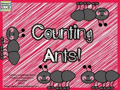 Counting Ants counting activities!  Puzzles, roll and color and independent practice pages!  FREE!