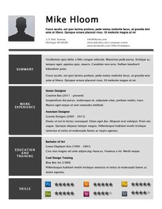 Ribbon Resume Template  Resume Inspiration    Creative