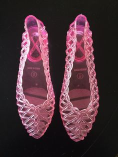 Vintage 1980s Jelly Shoes size 8 by JSArtsBazaar on Etsy