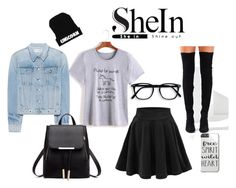 """""""#shein contest - street style"""" by pegiiisu ❤ liked on Polyvore featuring rag & bone and Jeffrey Campbell"""