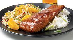 Saumon à la bière et aux saveurs japonaises