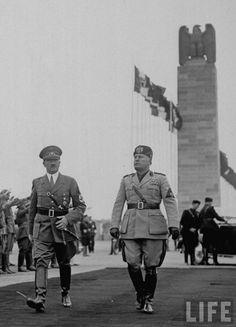 Alfred Eisenstaedt Mussolini Hitler 1938