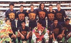 PUMAS RETRO!!! mis años preparatorianos jaja Puma Mexico, Mexico City, Hugo Sanchez, Football Mexicano, Football Kits, Champion, Soccer, Baseball Cards, Patriots