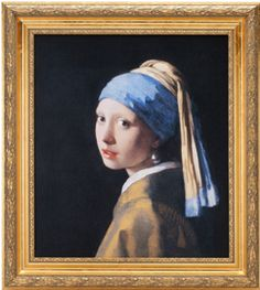 Vault W Artwork 'The Girl with a Pearl Earring' by Johannes Vermeer Framed Oil Painting Print on Canvas Format: Brown/Gold Framed, Size: H x 21 Johannes Vermeer, Oil Painting On Canvas, Painting Frames, Painting Prints, Art Print, Giclee Print, Painting Flowers, Art Paintings, Framed Canvas Prints