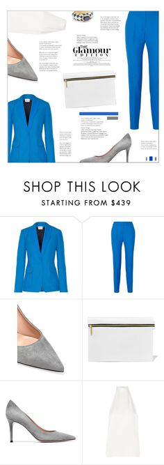 """PALLAS Andrea grain de poudre wool blazer and skinny pants"" by mako87 ❤ liked on Polyvore featuring PALLAS, Gianvito Rossi, Victoria Beckham, Diego Percossi Papi and pallas"