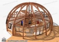 Project Dome House 6  - Ecohouses Monolithic Dome Homes, Geodesic Dome Homes, Dome Structure, Geometric Construction, 3d Modelle, Underground Homes, Dome House, Modern Mansion, Round House