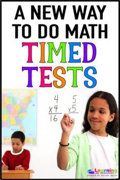Do your students struggle with math timed tests? Learn a new strategy that motivates and encourages students to answer more questions correctly and complete the test faster each time! Math Strategies, Math Resources, Math Activities, Summer Activities, Second Grade Math, 4th Grade Math, Fun Math, Maths, Teaching Math