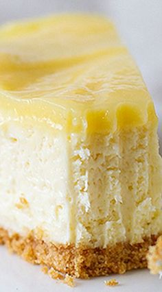 I think I must be dreaming! :) (Southern food, Southern dessert recipes deliciousness) # lemon cheesecake recipes Lemon Cheesecake - Best Cheesecake Recipe - Taste and Tell Lemon Desserts, Lemon Recipes, Just Desserts, Sweet Recipes, Baking Recipes, Dessert Recipes, Lemon Cheesecake Recipes, Food Cakes, Cupcake Cakes