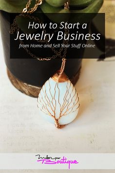 Learn how to successfully start a jewelry business from the comforts of your home and sell them online with this guide. Custom Jewelry, Diy Jewelry, Jewelry Accessories, Sell Your Stuff, Things To Sell, Starting An Online Boutique, Selling Online, Online Boutiques, 18k Gold