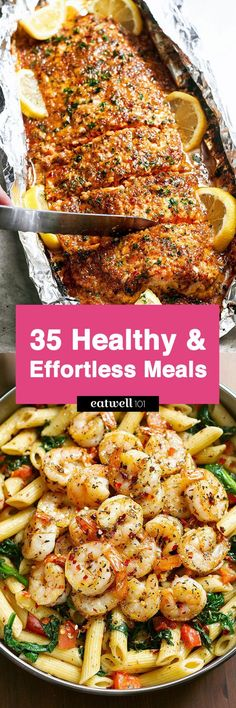 Healthy Dinner Recipes — Easy and low effort recipes, on the table in less than 30minutes.