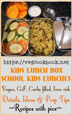 Kids School Lunch Box / Picnic Lunches / Packed Lunches for children! Vegetarian Rice Recipes, Vegan Food, Vegan Vegetarian, Vegan Recipes, Easy Summer Meals, Summer Recipes, Plant Based Diet Protein, Deep Fried Recipes, Kids Lunch For School