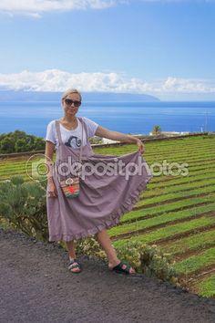 Girl on a plantation. — Стоковое фото © rybalov777 #63766645