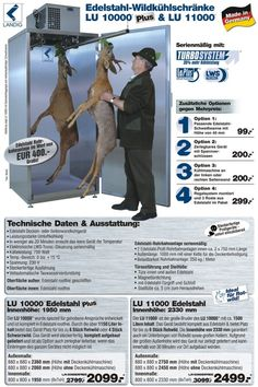 Wildkühlschrank Edelstahl Landig LU11000