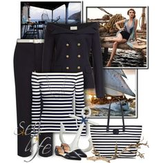 Sea Life by valsal on Polyvore featuring moda, H&M, Faith Connexion, John Lewis, Tory Burch, David Yurman, Dorothy Perkins, Nautical and sealife