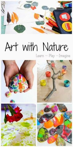 Kunstprojecten - Inspiratie: de natuur - 25 art crazy cool art projects for kids inspired by nature - Learn Play Imagine Diy Nature, Art Et Nature, Nature Crafts, Fun Crafts, Crafts For Kids, Arts And Crafts, Cool Art Projects, Projects For Kids, Diy Pour Enfants