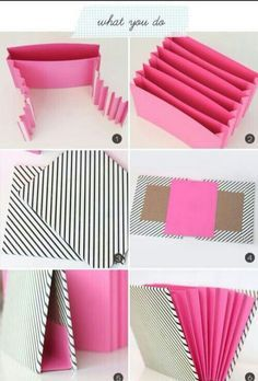 DIY Stationary Organizer diy craft crafts easy crafts craft idea diy ideas home diy easy diy home crafts diy craft classeur a soufflets Stationary Organization, Diy Organization, Diy Organizer, Diy Stationary Storage Ideas, Organizing Crafts, File Folder Organization, Scrapbook Organization, Diy Projects To Try, Craft Projects