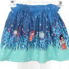 Girl Skirt Elastic Waist size 1 to 8 Sarah Jane by susanstreasures