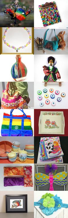 Rainbows  TeamUNITY Group 6 Treasury by Rosemary Grayson on Etsy--Pinned with TreasuryPin.com