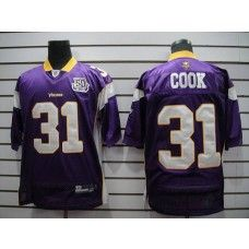 0276df7a2 Vikings  31 Chris Cook Purple Team 50TH Patch Stitched NFL Jersey