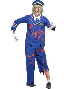 Men's Zombie Pilot/Captain Costume