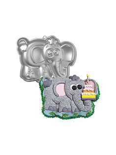 Elephant Cake Pan: put the number 2 in place of cake