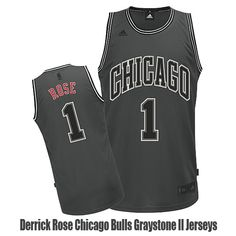 Derrick Rose Chicago Bulls Graystone II Jerseys