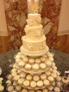 Wedding cupcake tower...I am going to have something like this