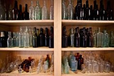 Found bottles and glasses from a farm in Charlottesville, VA. 6.29.11.