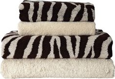 This four piece towel bale from Argos incorporates neutral creams and exciting animal prints to add some excitement to any bathroom.