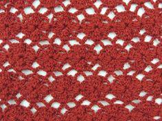 Crochet: Punto Enrejado con Flor # 2 - YouTube