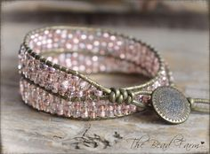 Beaded Wrap Bracelet Beaded Cuff Wrap Bracelet Beaded