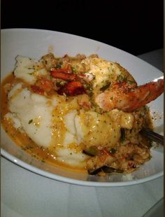 Mastro's lobster mash potatoes! To die for! Huge pieces of lobster, buttery and garlicky!