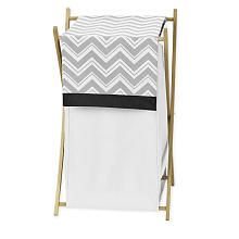 Sweet Jojo Designs Zig Zag Black and Gray Collection Laundry Hamper