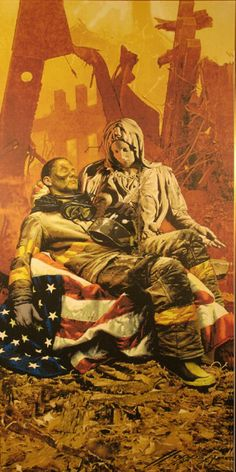 Pieta at Ground Hero by Frank Hopper. This painting hangs in the NY Fire Department board room